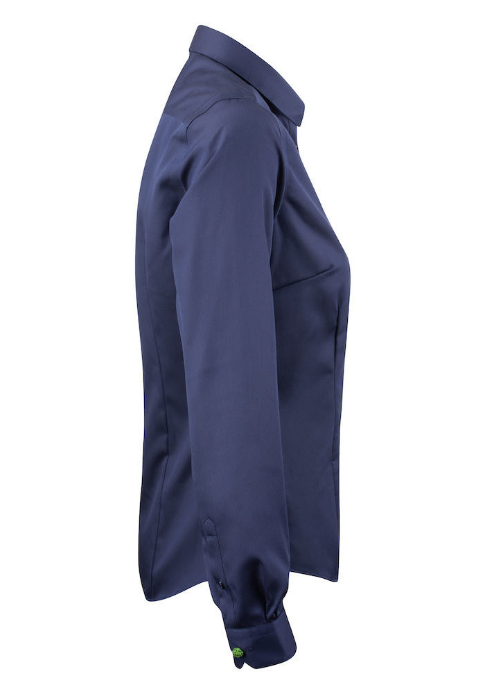 Green Bow 01 Dames Blouse Navy