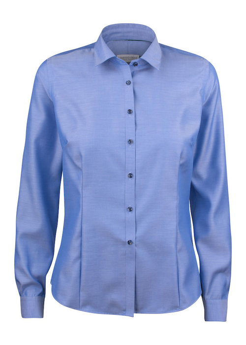 J. Harvest & Frost Green Bow 01 Dames Blouse Blauw