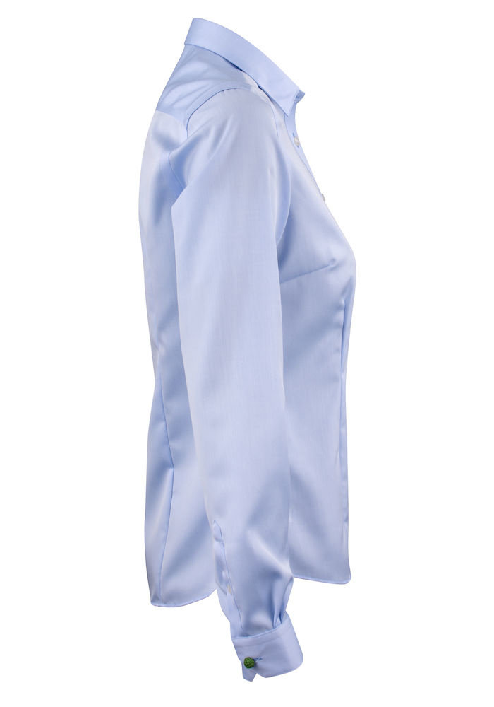 Green Bow 01 Dames Blouse Sky Blue