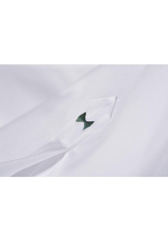 Green Bow 01 Dames Blouse Wit