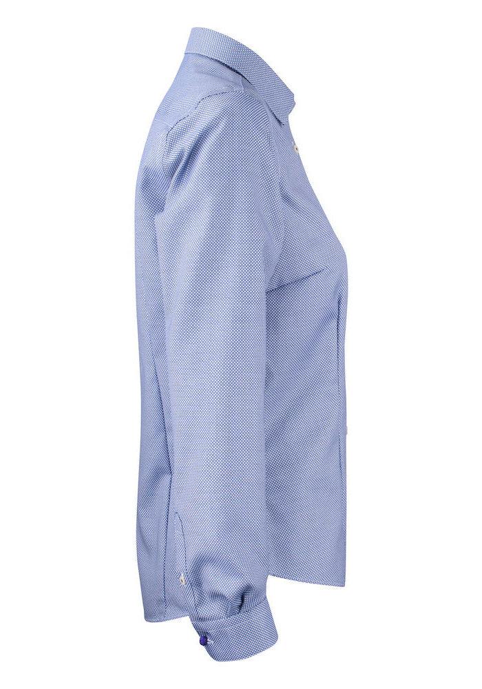 Purple Bow 48 Dames Blouse Blauw/Wit