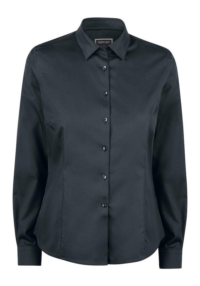 Black Bow 60 Dames Blouse Zwart