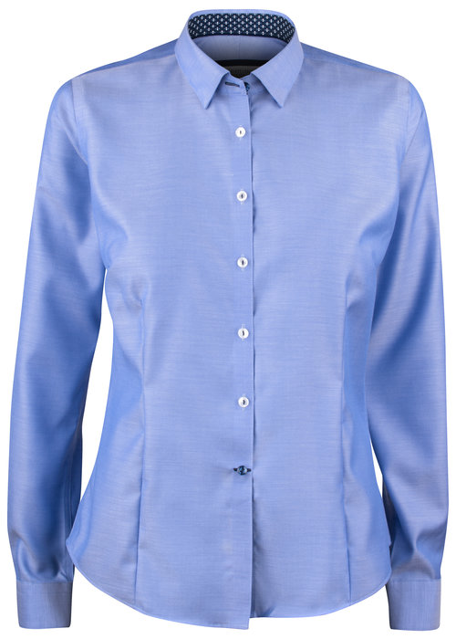 J. Harvest & Frost Red Bow 122 Dames Blouse Mid Blue