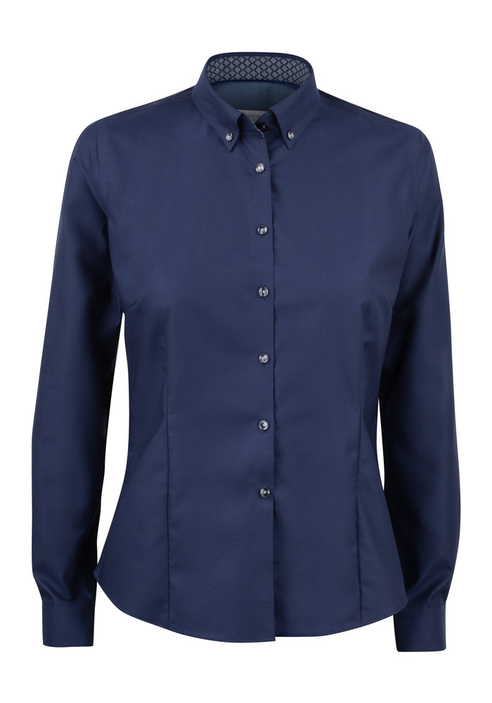 Red Bow 121 Dames Blouse Navy