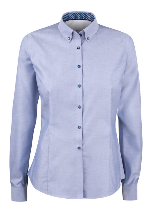 J. Harvest & Frost Red Bow 121 Dames Blouse Blauw