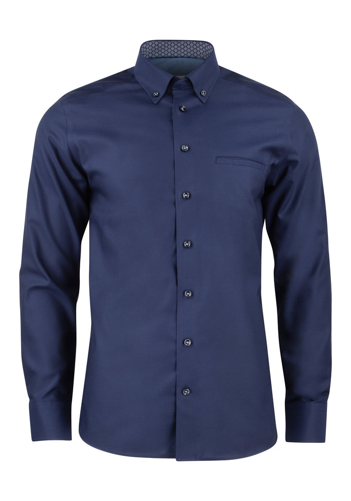 Red Bow 121 Slim Fit Overhemd Navy