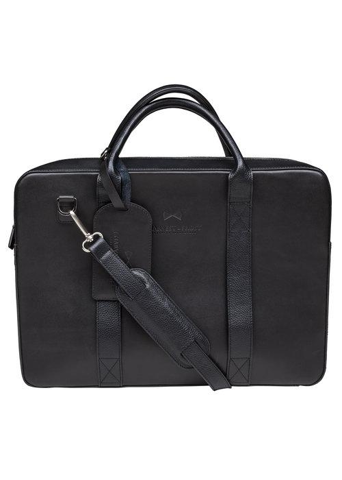 J. Harvest & Frost Zwarte Briefcase