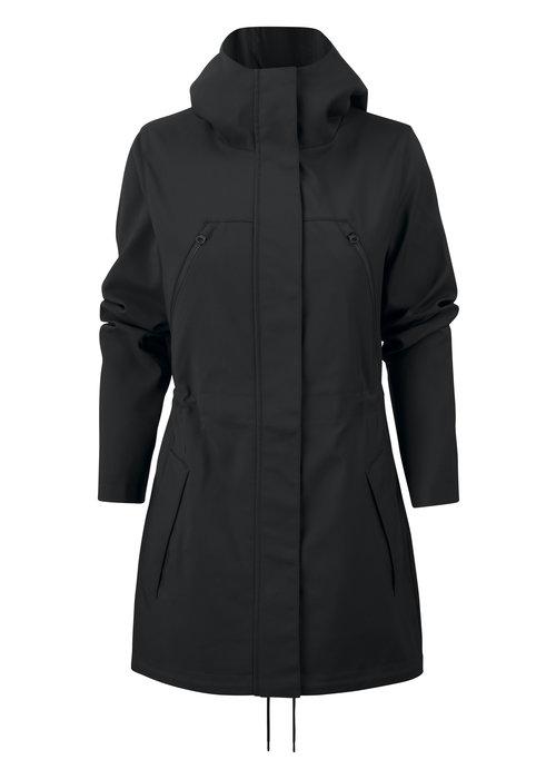 James Harvest Dames City Coat Zwart