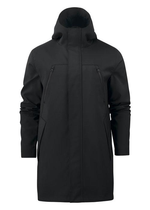 James Harvest Heren City Coat Zwart