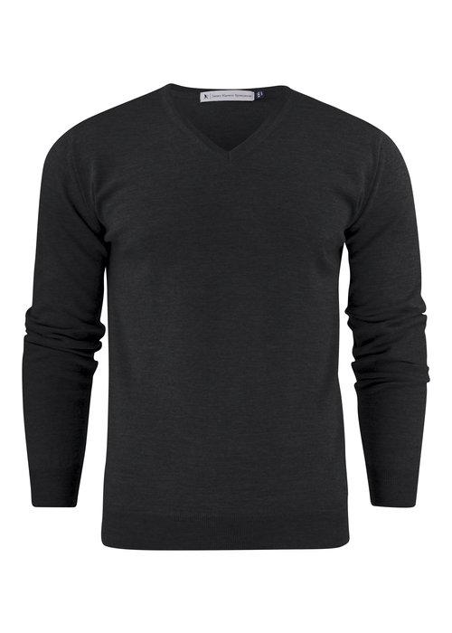 James Harvest Westmore Merino Heren Pullover Zwart