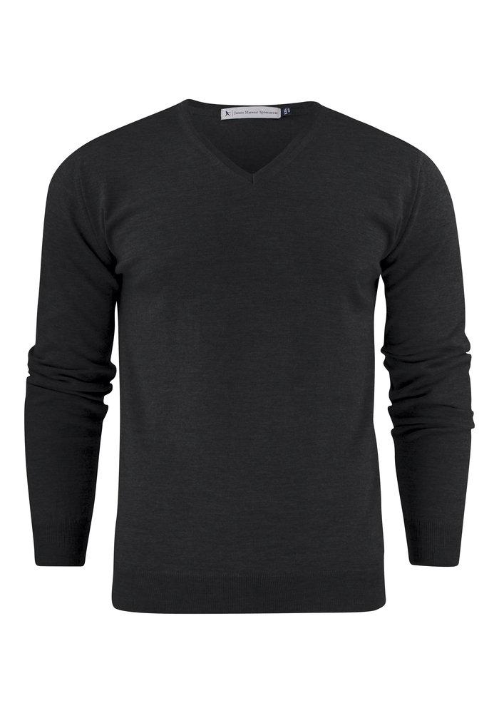 Westmore Merino Heren Pullover Zwart