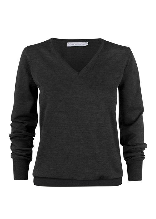 James Harvest Merinowol Dames Pullover Zwart Westmore