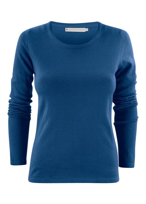 James Harvest Harvest Portland Dames Pullover met Ronde Hals Blauw