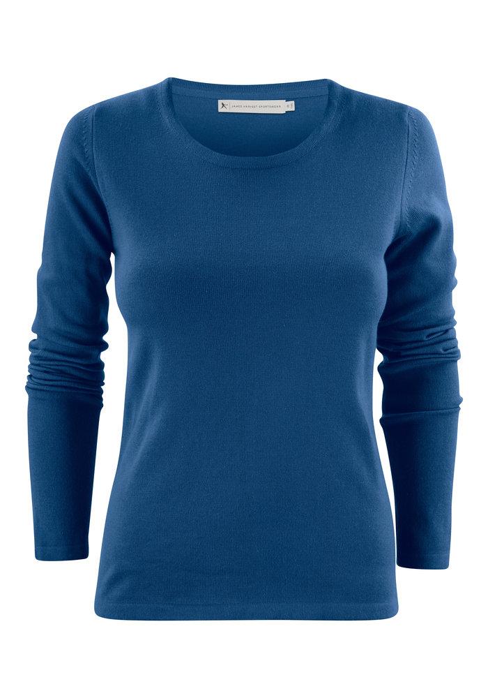 Harvest Portland Dames Pullover met Ronde Hals Blauw