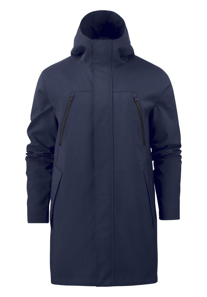 Heren City Coat Marineblauw