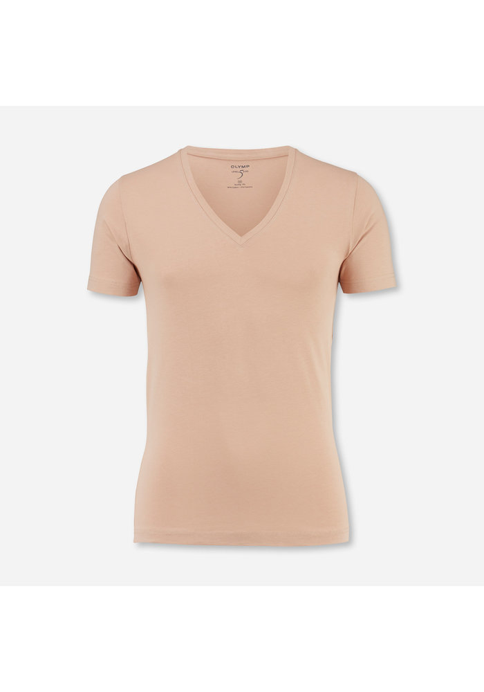 OLYMP Level Five T-Shirt Met Diepe V-hals voor Eronder