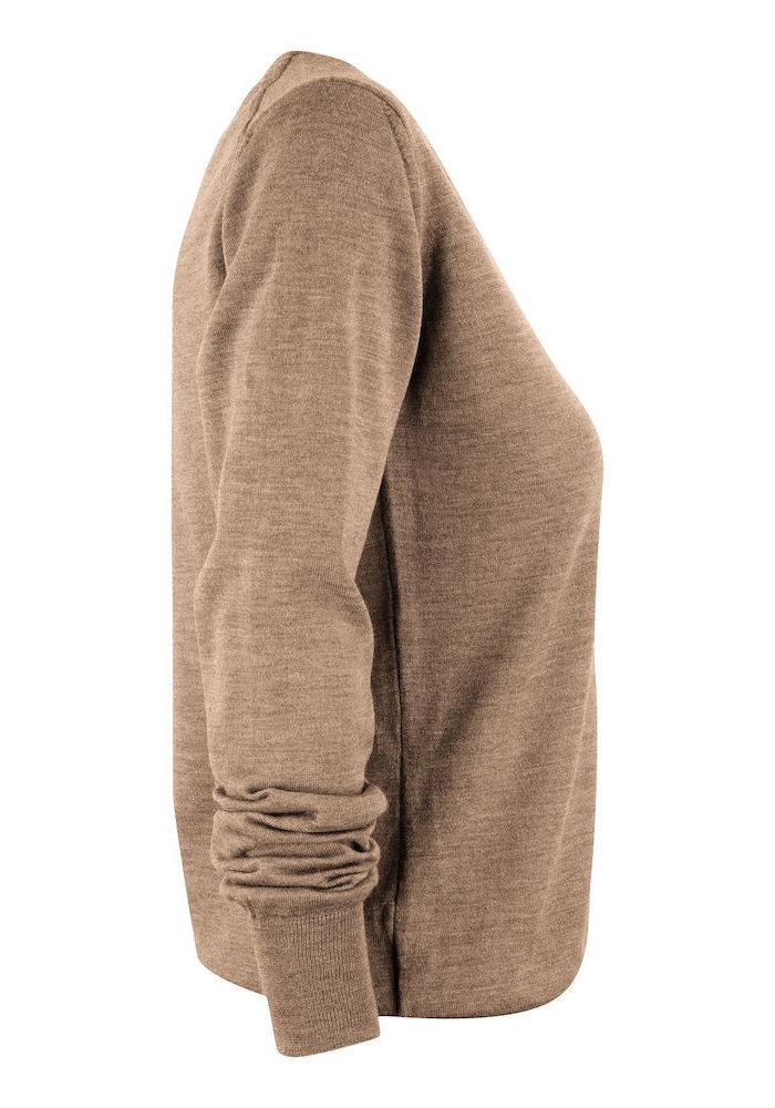 Merinowol Dames Pullover Greige Westmore
