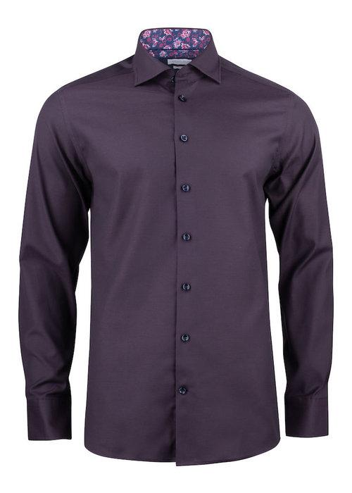 J. Harvest & Frost Purple Bow 142 Regular Fit Overhemd Paars