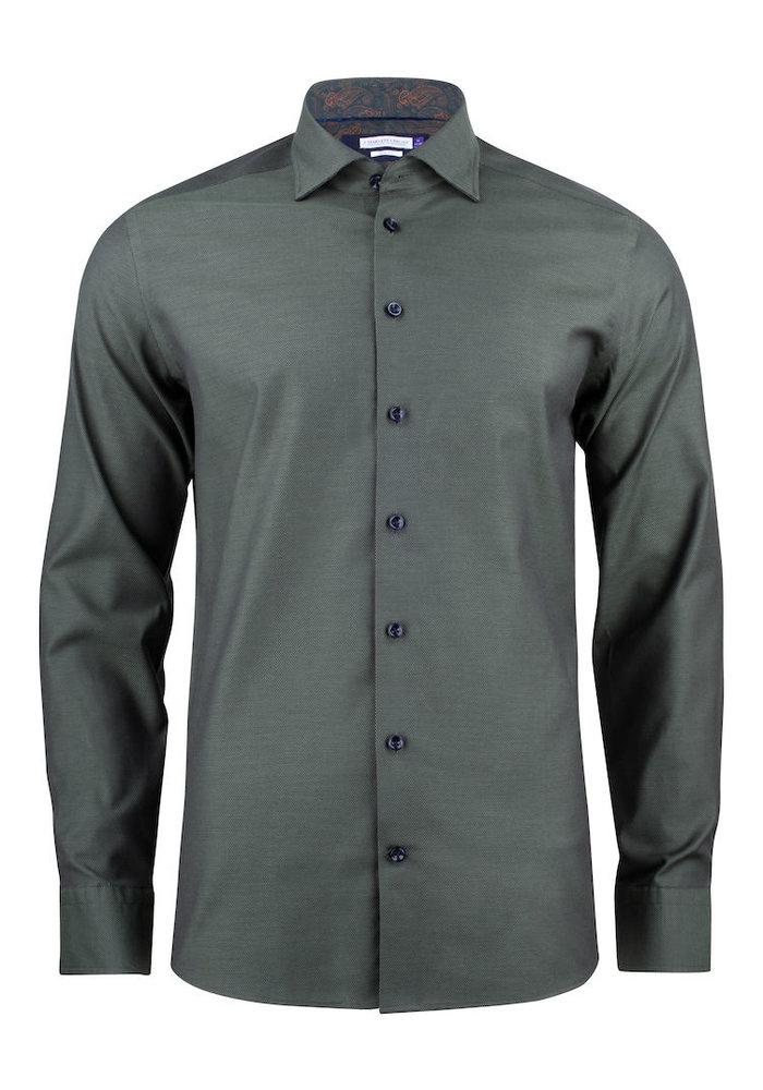 Purple Bow 142 Regular Fit Overhemd Olijfgroen