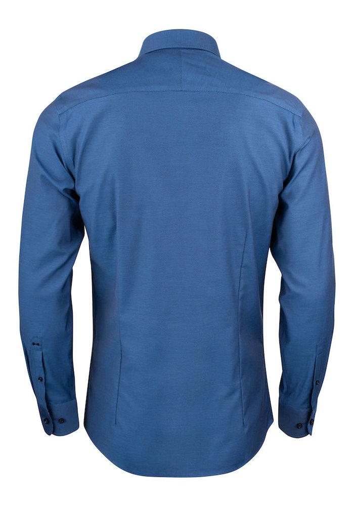 Purple Bow 142 Slim Fit Overhemd Donkerblauw