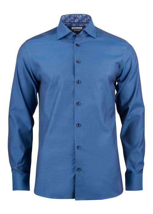 J. Harvest & Frost Purple Bow 142 Slim Fit Overhemd Donkerblauw