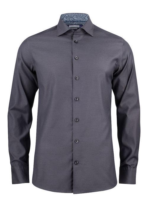 J. Harvest & Frost Purple Bow 142 Slim Fit Overhemd Grijs