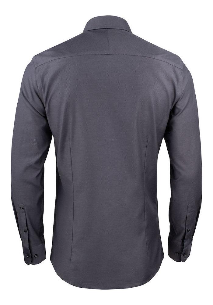Purple Bow 142 Regular Fit Overhemd Grijs