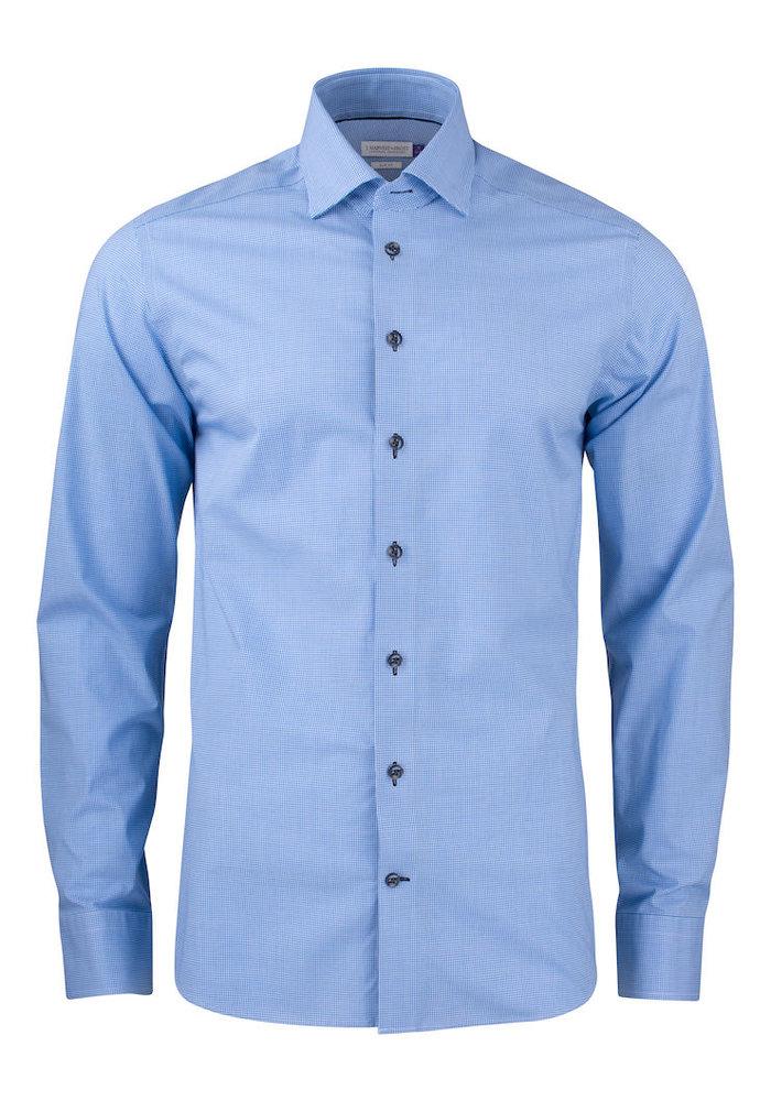 Purple Bow 141 Regular Fit Overhemd Blauw