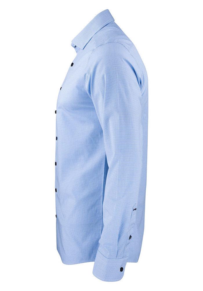 Purple Bow 141 Slim Fit Overhemd Blauw