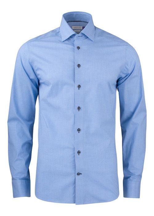 J. Harvest & Frost Purple Bow 141 Slim Fit Overhemd Blauw