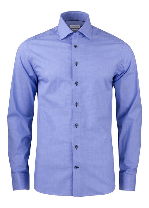 J. Harvest & Frost Purple Bow 141 Slim Fit Overhemd Navy