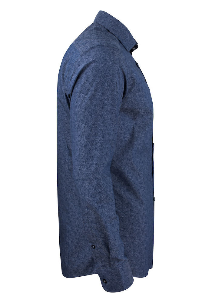 Purple Bow 143 Slim Fit Overhemd Indigo Paisley