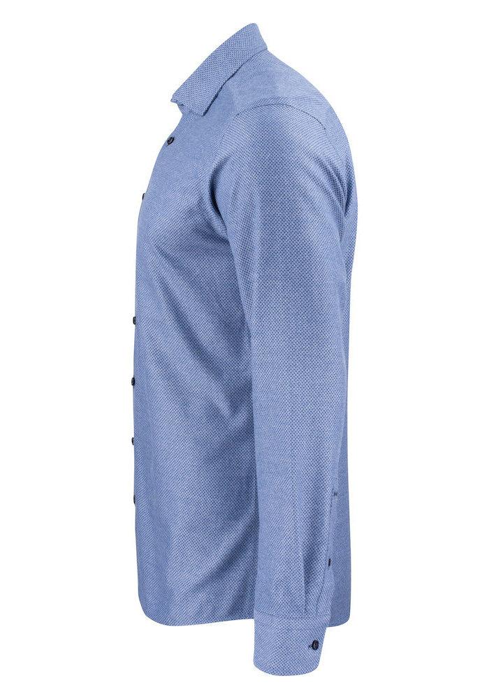 Purple Bow 144 Slim Fit Overhemd Indigo