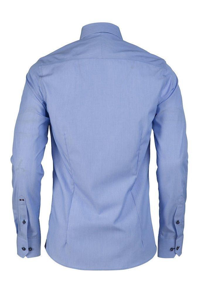 Red Bow 24 Slim Fit Overhemd Blauw met Streep