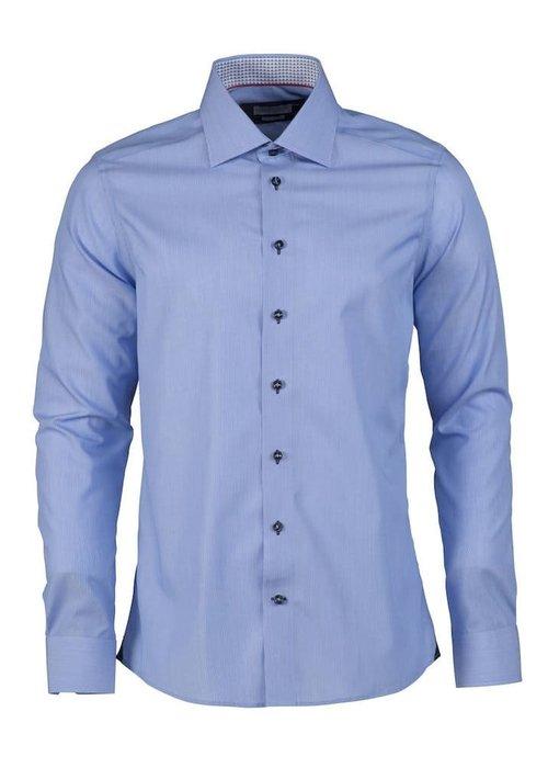 J. Harvest & Frost Red Bow 24 Regular Fit Overhemd Blauw met Streep