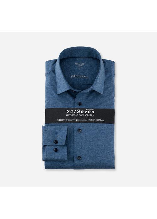 OLYMP Olymp overhemd 24/Seven Rook Blauw