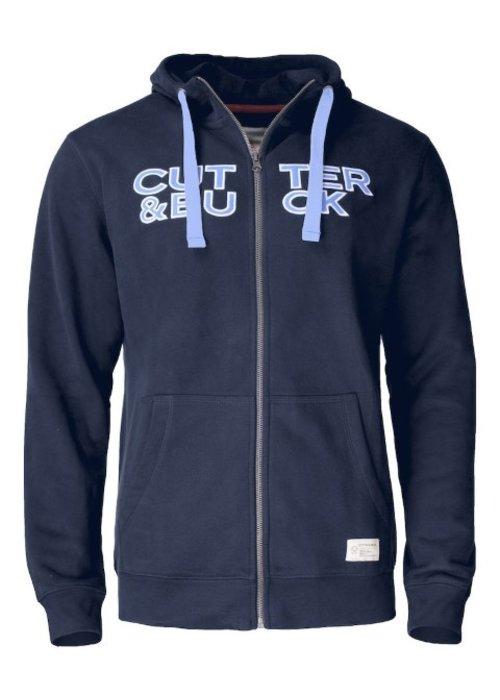 Cutter & Buck Twisp Heren Sweater Met Rits Dark Navy