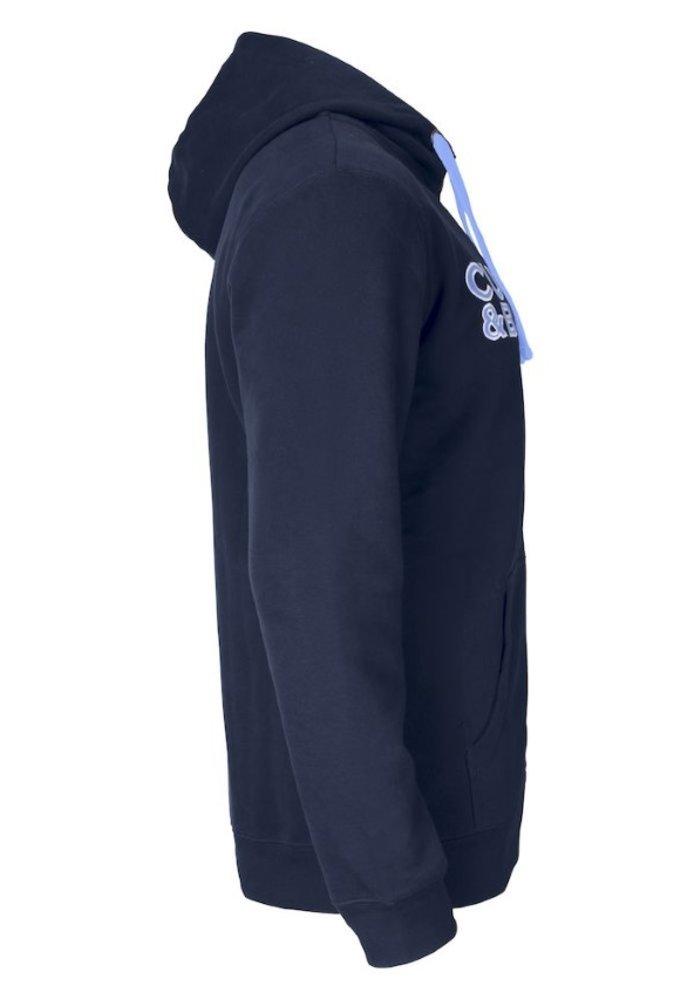 Twisp Heren Sweater Met Rits Dark Navy