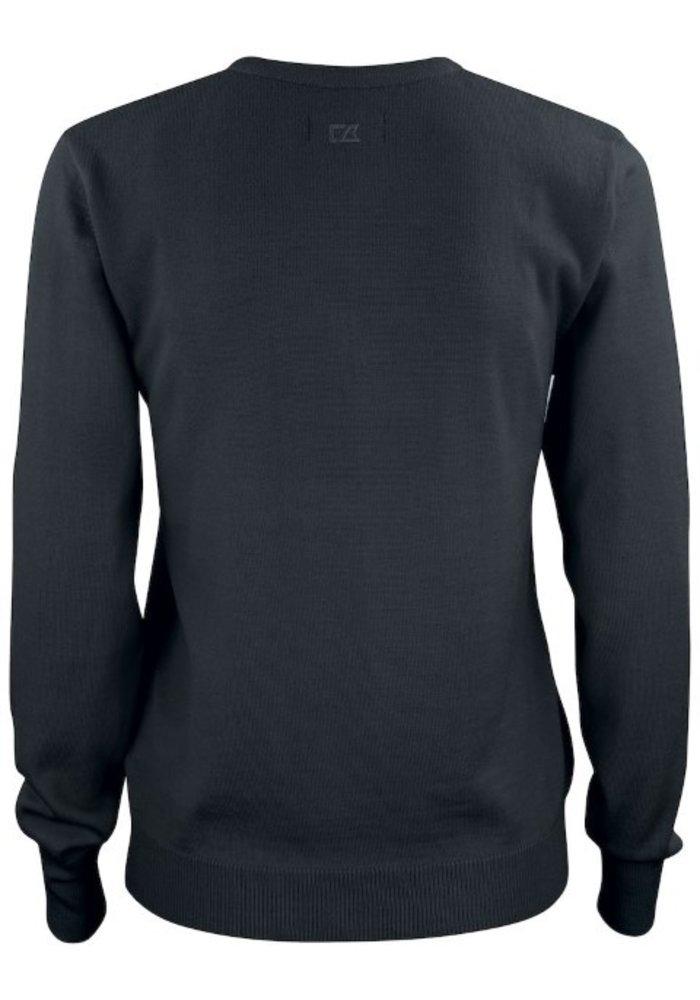 Dames Pullover met V-hals Zwart Everett