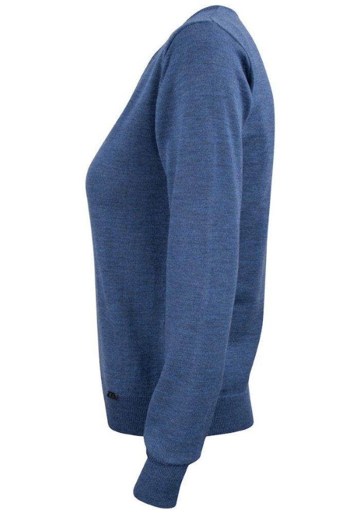 Dames Pullover met V-hals Blauw Everett