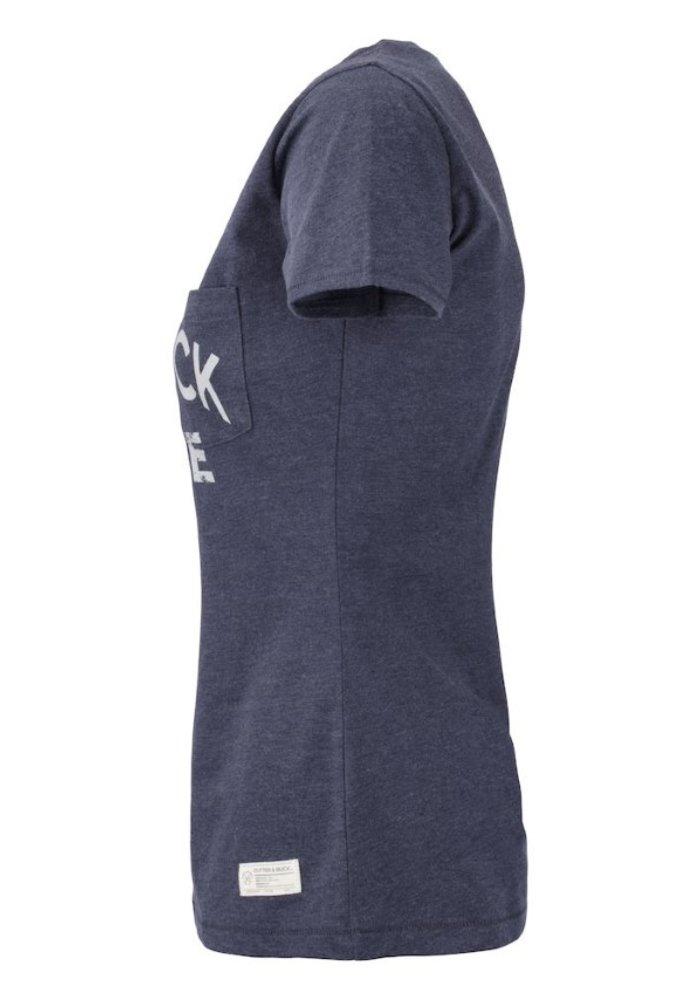 Pacific City Dames Denim T-shirt Met Opdruk