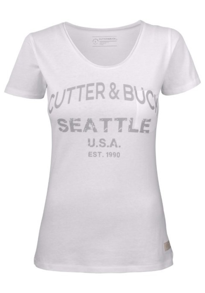 Pacific City Dames Wit T-shirt Met Opdruk