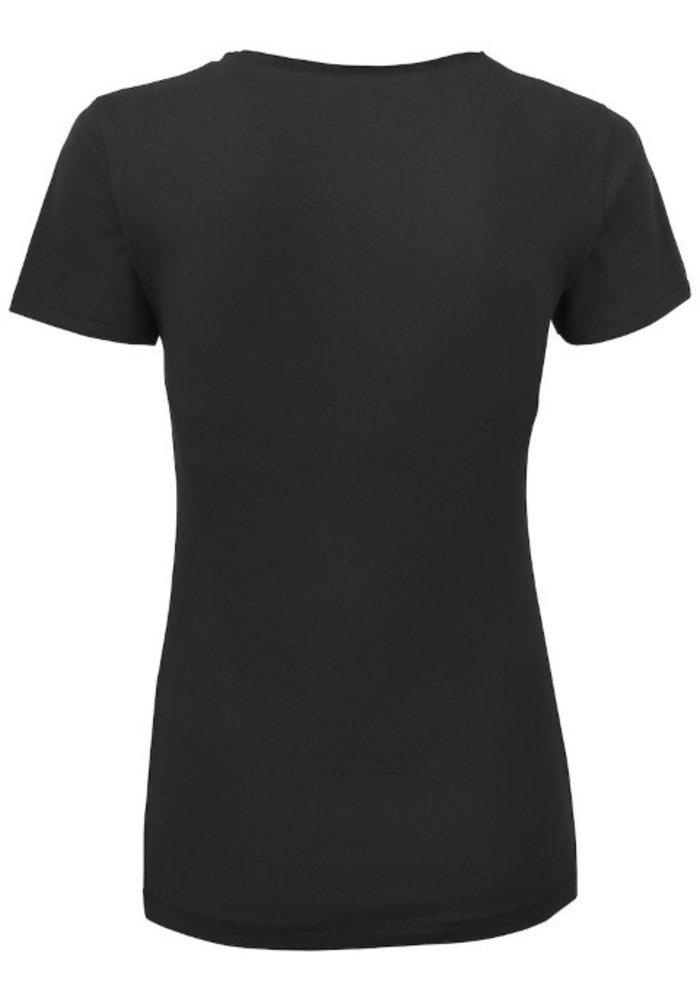 Pacific City Dames Zwart T-shirt Met Opdruk