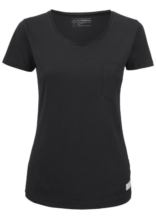 Cutter & Buck Pacific City Dames Zwart T-shirt Zonder Opdruk