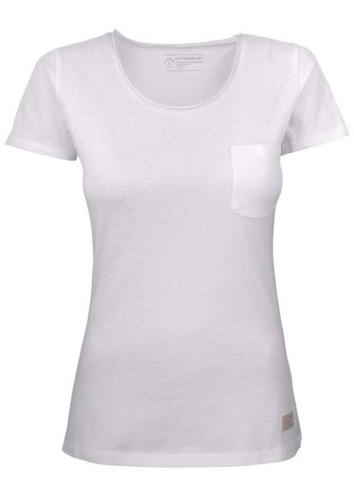 Cutter & Buck Pacific City Dames Wit T-shirt Zonder Opdruk