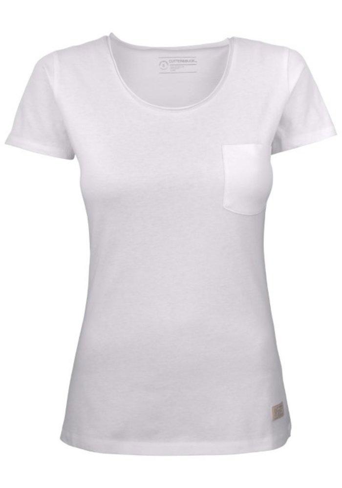 Pacific City Dames Wit T-shirt Zonder Opdruk