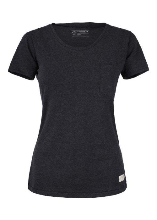 Cutter & Buck Pacific City Dames Antraciet T-shirt Zonder Opdruk