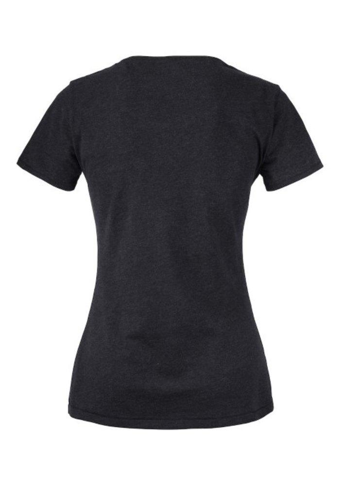 Pacific City Dames Antraciet T-shirt Zonder Opdruk