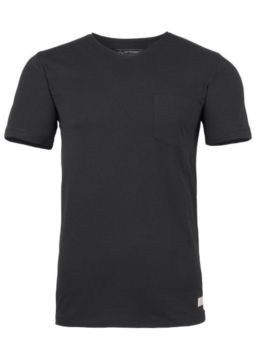 Cutter & Buck Pacific City Heren Zwart T-shirt Zonder Opdruk