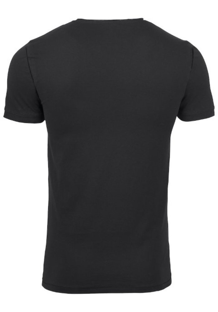 Pacific City Heren Zwart T-shirt Zonder Opdruk